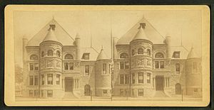 Pollard Memorial Library - stereoscopic view of Pollard Memorial Library by L.O. Churchill