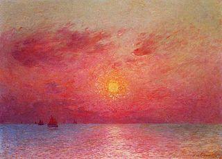 Bateaux à voile en mer, soir