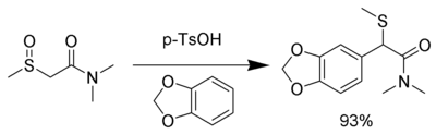 Example of the Pummerer rearrangement using veratrole