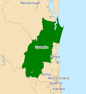 Electoral district of Gympie - 2008 map.