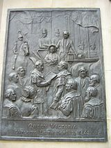 Queen Victoria statue panel, Leith Walk