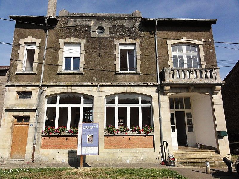 Réchicourt (Spincourt, Meuse) mairie-école