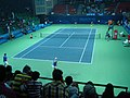 RK Khanna Tennis Complex New Delhi - Centre Court at Night.jpg