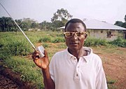 Radio listener in rural Kailahun