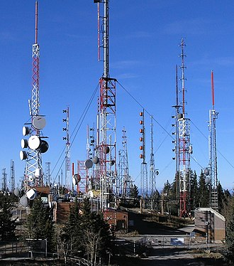 Antenna farm - Huge antenna farm on Sandia Peak near Albuquerque, New Mexico, USA