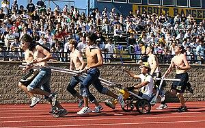 Jesuit College Preparatory School of Dallas - Image: Ranger Day 2005 freshman chariot
