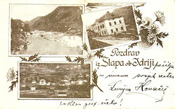 1899 postcard of Slap ob Idrijci