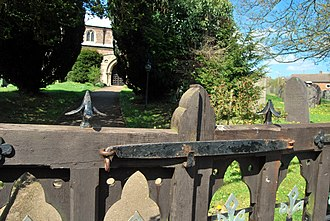 Rearsby - Image: Rearsby ancient churchyard gate latch
