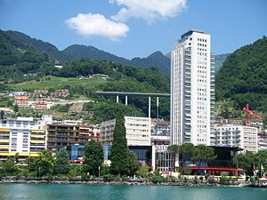 Montreux Casino - Montreux Casino as seen on Lake Léman