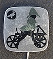 Reclamespeldje van een oud model fiets foto 8.JPG
