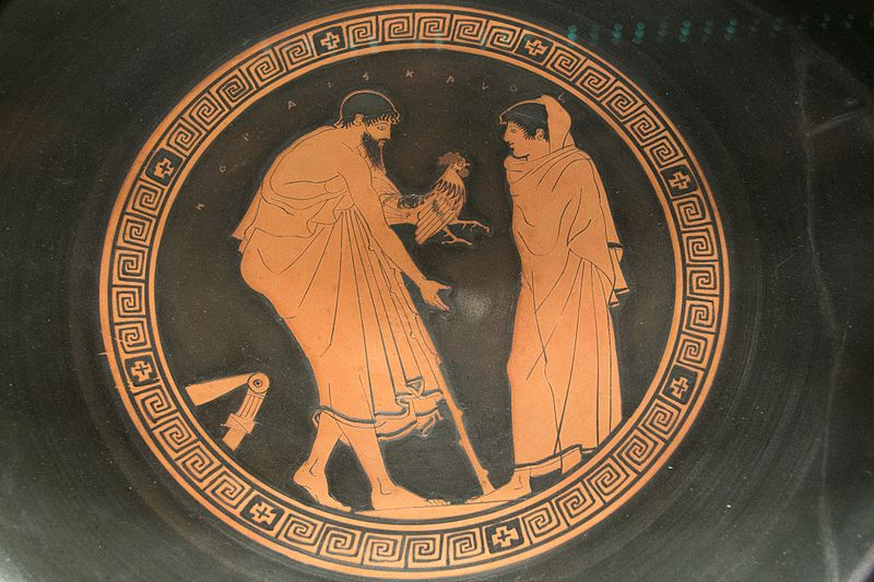 File:Red figure pottery, AshmoleanM, Man offering a gift to boy, AN 1896-1908 G.279, 142597.jpg