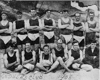 Surf lifesaving - 1908 photograph of Redhead Surf Lifesaving Club.