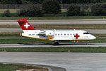 Rega - Swiss Air Ambulance Bombardier Challenger 604 (CL-600-2B16) HB-JRC (22089925304).jpg