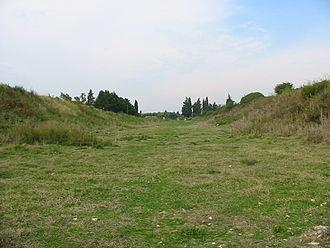 Actia - The stadium of Nikopolis at present