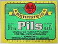 Rennsteig Pils, Deutsches Pilsner, VEB GK Rennsteig-Meiningen Werk Meiningen Etikett (DDR).jpg