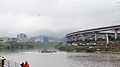 Rescue Team Searching Crashed B-22816 in Keelung River 20150204c.jpg