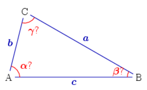 Solution of triangles - Three sides given