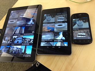 Responsive web design - The same app displays content differently on devices of various sizes