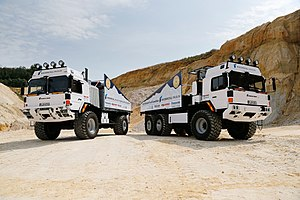 Ojos del Salado - The two RMMV HX trucks currently attempting the altitude record for a wheeled vehcile