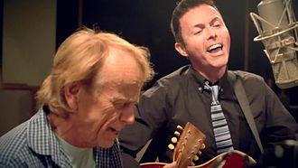 "Richard Barone - Image: Richard Barone & Al Jardine recording Pete Seeger's ""If I Had A Hammer (The Hammer Song)"""