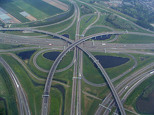 Transport in the Netherlands - The north (and largest) section of the Ridderkerk interchange
