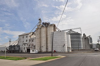 Ritzville, Washington - Grain elevator, 2014. Wheat remains the key to Ritzville's economy.