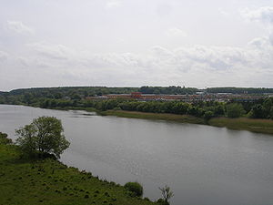River Bann - Overlooking the Lower Bann at Coleraine and the Riverside Retail Park on the eastern banks of the river