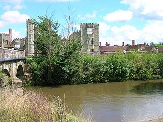 River Rother, West Sussex - The River Rother at Cowdray Ruins