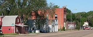 Riverton, Nebraska - Downtown Riverton: south side of U.S. Highway 136
