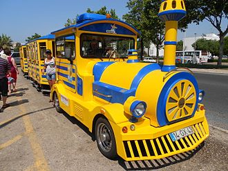 Trackless train - Road train at Albufeira