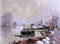 Robert Antoine Pinchon, Le ponton, oil on canvas, 54 x 73 cm.jpg