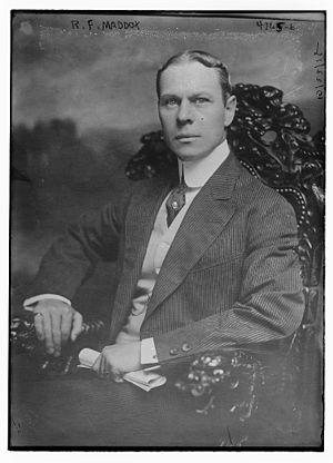Robert Maddox - Maddox in 1918