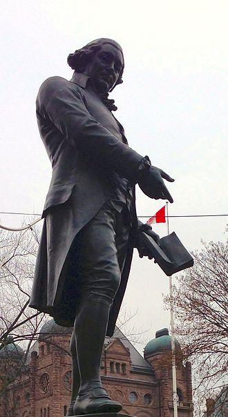 Robert Raikes - Statue of Robert Raikes next to Queen's Park, Toronto, ON, Canada