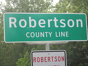 Robertson County, Texas - Image: Robertson County, TX, sign IMG 2287