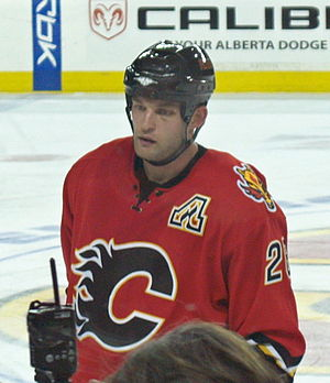 Robyn Regehr - With the Flames in November 2006