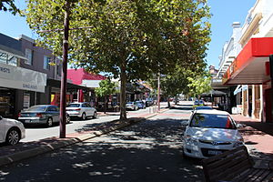 Subiaco, Western Australia - Rokeby Road, a major road which runs through the suburb, features many shops and cafes.