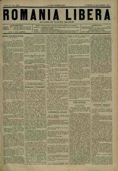File:România liberă 1885-09-08, nr. 2437.pdf