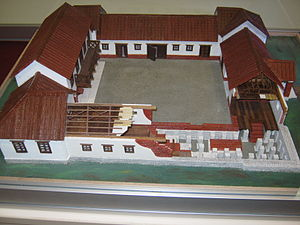Roman villa - Roman Villa Rustica Model. Remnants of these types of villas can be found in the vicinity of Valjevo, Serbia