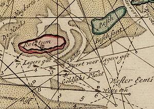 Bosch (island) - Upside down map of Rottum and Bosch