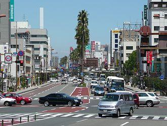 Miyazaki (city) - Tachibana Street in Miyazaki