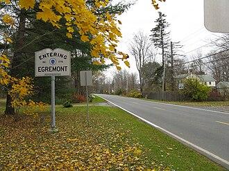 Egremont, Massachusetts - Route 71 westbound entering Egremont