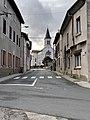 Route de Rillieux (Mas Rillier) et l'église du hameau (2).jpg