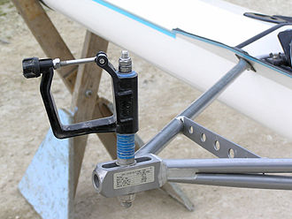 Glossary of rowing terms - An oarlock attached to a rigger