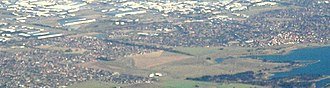 Roxburgh Park, Victoria - Aerial view of Roxburgh Park from north west