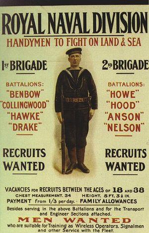 63rd (Royal Naval) Division - Image: Royal Naval Division recruiting poster