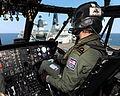 Royal Navy Seaking Pilot Approaches HMS Bulwark MOD 45153012.jpg