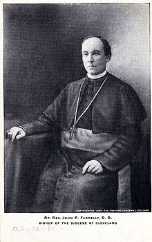 Rt Rev John Patrick Farrelly D D 4th Bishop of the Diocese of Cleveland.jpg