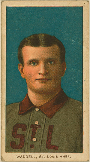 Rube Waddell - A 1909 Rube Waddell T206 Tobacco Card