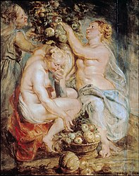 Peter Paul Rubens: Ceres and Two Nymphs with a Cornucopia