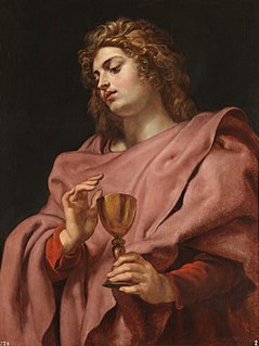 John the Apostle apostle of Jesus; son of Zebedee and Salome, brother of James,; traditionally identified with John the Evangelist, John of Patmos, and the Beloved Disciple